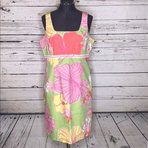 Lilly Pulitzer 10 Floral Print Lace Empire Dress